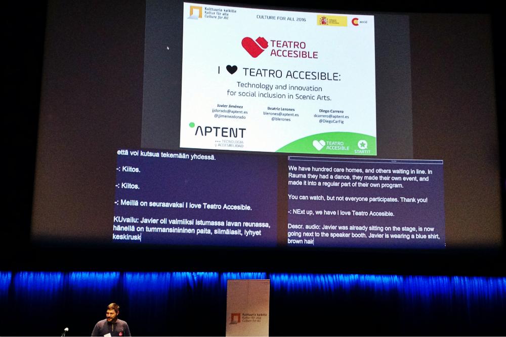 Presentamos STARTIT y Teatro Accesible en Helsinki