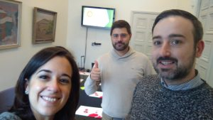 Javier, Diego y Beatriz en el workshop